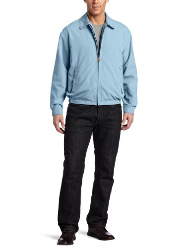 London Fog Men's Auburn Zip Front Light Mesh Lined Golf Jacket, Cornflower Blue, Medium at Amazon.com