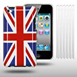 IPOD TOUCH 4 UNION JACK BACK COVER / CASE / SHELL / SKIN / GEL WITH 6 SCREEN PROTECTORS , BY CELLAPOD CASESby CELLAPOD