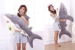 Doremo global サメ ぬいぐるみ 特大 90cm サメ抱き枕/鮫ぬいぐるみ/子供プレゼント/お祝い/ふわふわぬいぐるみ サメ