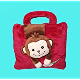 "Biaba Collection New Design Monkey Face Cute Super Soft Velvet Covering Baby Bag Cum Blanket Size 42 X 56"" Dynamic & Good For Baby"