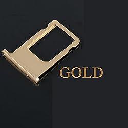 sim tray sim holder sim slot sim adapter for iPhone 6 Gold