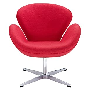 Wing Lounge Chair in Red