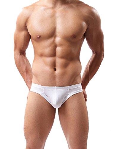 Hioffer(ハイオフア)吸汗速乾 メンズ 立体成型 ボクサーブリーフ やわらか肌着 男性用 パンツ 男性下着 抗菌防臭加工 ホワイト L