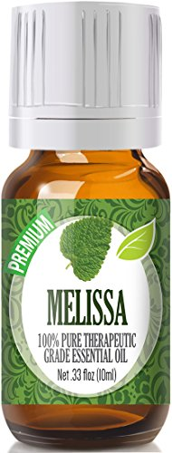 Melissa 100% Pure, Best Therapeutic Grade Essential Oil - 10ml