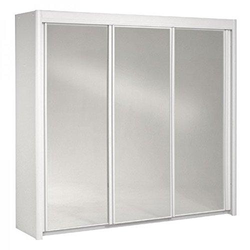 Schwebetürenschrank weiß 3 Türen B 234 cm Holz Schrank Spiegelschrank Schwebetürenschrank Kinderzimmer Jugendzimmer Kinderzimmerschrank jetzt bestellen