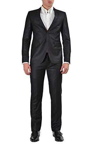 Versace Jeans Mens Black Two Button Suit US 38 IT 48