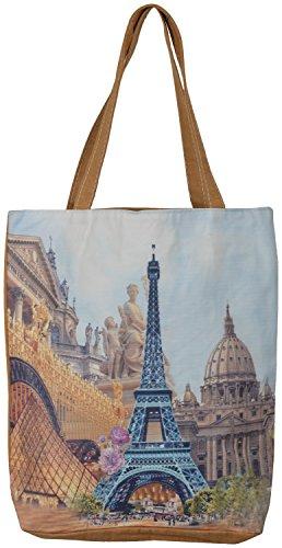 b85f25fbc4 Gouri Bags Beige Colour Casual Digital Printed Tote Bags College Bags  Canvas Bags Shopping Bags Stylish Shopping Bags Trendy Bag For Girls Women  Handbags ...