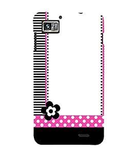 Girly Flower 3D Hard Polycarbonate Designer Back Case Cover for Lenovo K860