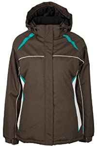 Mountain Warehouse North Star Womens Ski Snowboarding Skiing Hooded Insulated Padded Jacket Brown 6