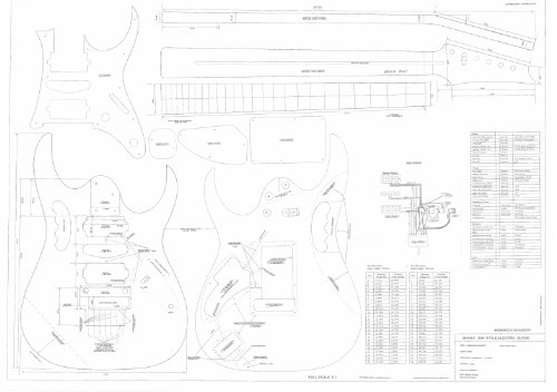 Ibanez Electric Guitar Plans - Full Scale technical design drawings - Jem 777- Actual Size Plans (Ibanez Jem 777 compare prices)