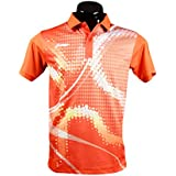 Li-Ning Orange Polo T-shirts (MRN-1012)