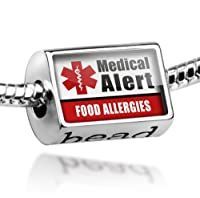 "Neonblond Beads Medical Alert Red ""Diabetic"" - Fits Pandora Charm Bracelet by NEONBLOND Jewelry & Accessories"