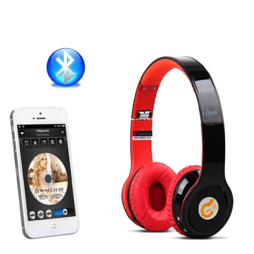 Syllable® G15 Foldable Professional Wireless Bluetooth Noise Reduction Headphones With Mic For Iphone 4 4S 5 5C 5S Ipad Mini Ipad Air Samsung Galaxy S4 S5 Note 3 Htc One/M8 Zte Open C Smartphone Or Any Other Device That Has Bluetooth Capability(Black)+Fre