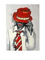 Legendarte Lienzo Ragazza Con Cappello E Cravatta
