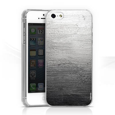 Skins Design für Betonwand mit Spotlight grau iPhone 5 - HardCover transparen...
