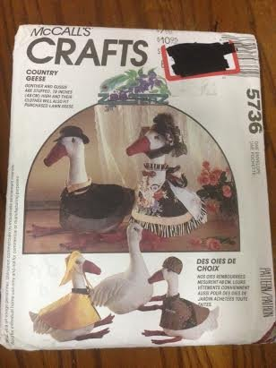 McCall's 5736 Sewing Pattern, Goose Doll and Clothes, One Size (Goose Clothes Patterns compare prices)
