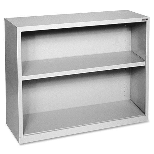 Lorell LLR41280 Fortress Series Steel Book Case, Light Gray Series Steel 3 Shelf Bookcase