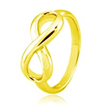 buy Tioneer Sterling Silver Iconic Classic 14K Gold Plated Infinity Ring, Size 8