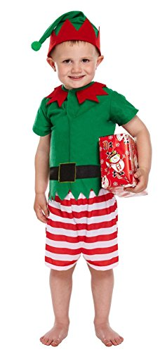Santa's Little Helper Elf Toddler Fancy Dress Costume Age 3