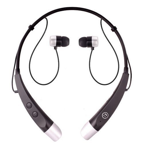 Click to buy Universal HBS-500 Wireless Bluetooth Stereo Headset Headphone Handfree Earpiece For LG Samsung Iphone (Black-Silver) - From only $69.99