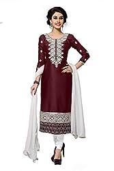 Manvaa Women's Cotton & Crush Dress Material (MSMSNH1261_Maroon)