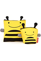 Skip Hop Zoo Reusable Sandwich and Snack Bag Set, Bee (Discontinued by Manufacturer)