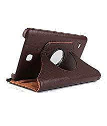 Best Deals - Samsung Galaxy Tab4 8 inch T330/T331 Rotatable Flip Stand Cover Case - Brown