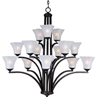 Maxim Lighting Aurora 15-Light Oil Rubbed Bronze Multi-Tier Chandelier