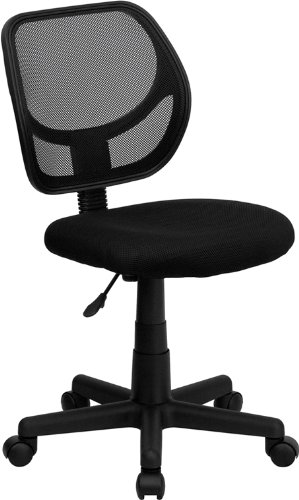 Flash Furniture WA-3074-BK-GG Mid-Back Black Mesh Task and Computer Chair