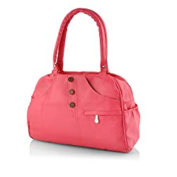 Smartway Women's Handbag (Pink,Swhb-0107)