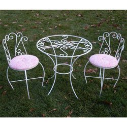 Round Glass Table And Chairs Set - Color As Shown - Outdoor Use by Ababy