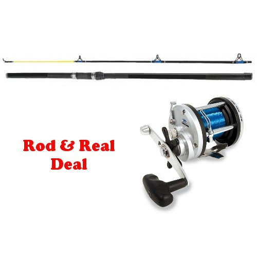 SFE Fladen 12ft Beachcaster Rod and JD300 Reel with 30lb line - Sea Fishing Kit