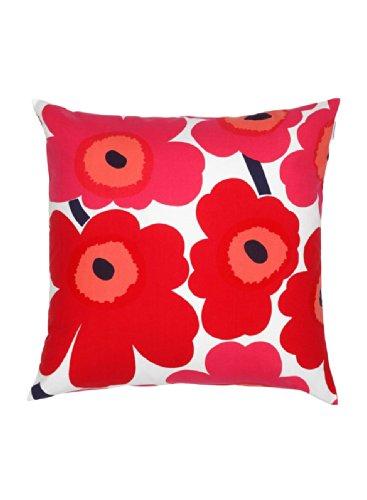 Marimekko Unikko Red Cuscino 50 di 50 cm