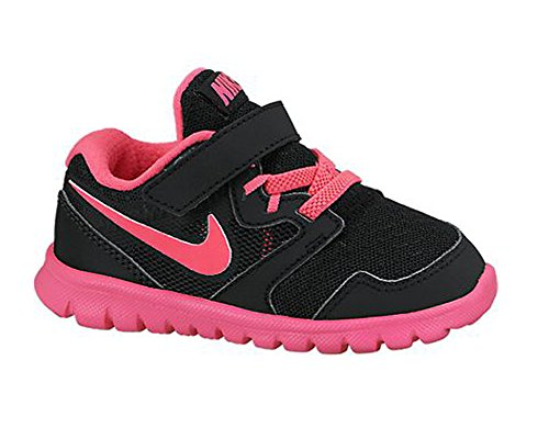 Nike Baby Girl'S Flex Experience 3 Athletic Shoes (5C M Us Toddler, Blk/Pink) front-1064321