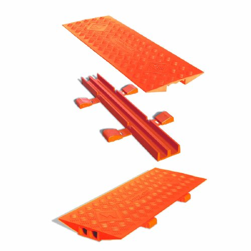 Cross-Link CL2X150-5GD-O Polyurethane Heavy Duty Protector Bridge for Guard Dog 5 Channel Cable Protectors, Orange, 36