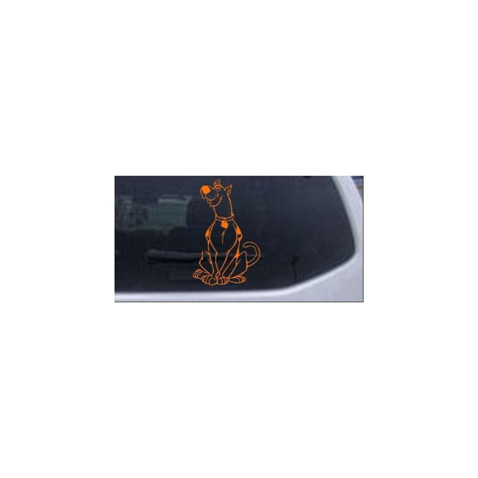Scooby Doo (full body) Cartoons Car Window Wall Laptop Decal Sticker    Orange 16in X 10.4in