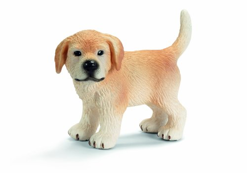 Schleich Standing Golden Retriever Puppy Toy Figure