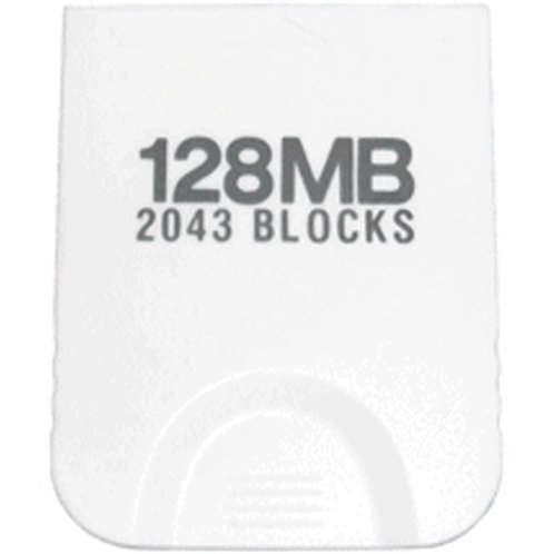 Assecure 128MB Nintendo GameCube (GC, NGC) & Wii Memory Card (White) 2043 Blocks