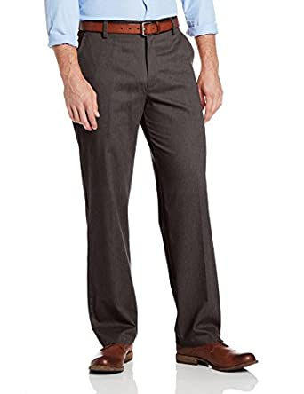 Dockers Men's Easy Khaki D3 Classic Fit Flat Front Pant, Frontier Heather, 30Wx30L