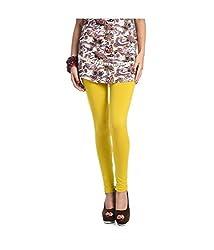 Hf Enterprise Women's Cotton Legging (S6_Yellow_Free Size)