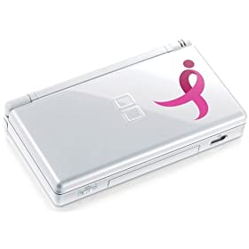 Nintendo Limited Edition Pink Ribbon DS Lite in full view