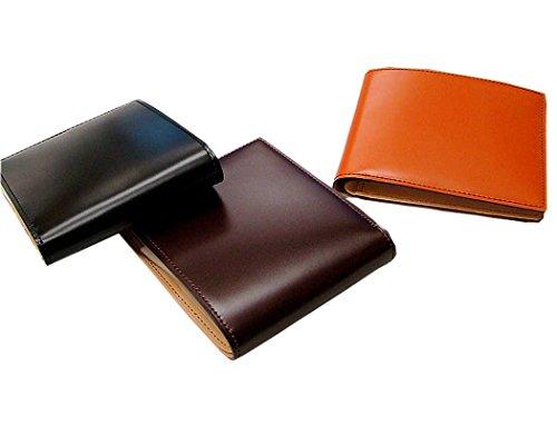 【キプリス/CYPRIS】 5612 新コードバン&ベジタブルタンニング 二つ折り財布(カード札入) (正規取扱店) (クロ)