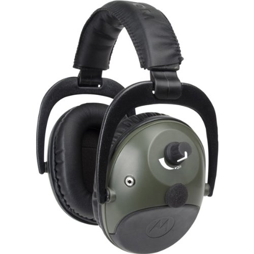 Motorola - Talkabout Isolation Earmuff with PTT Microphone Cable with Always Active Sound Compression