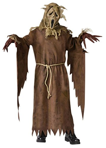 Boys Ghost Face Scarecrow Kids Child Fancy Dress Party Halloween Costume