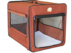 GoPetClub 26″ Dog Cat Portable Travel House Pet Folding Crate Cage Kennel AB25