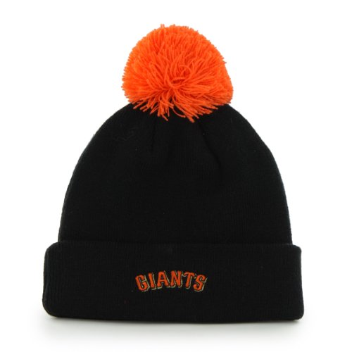 Buy San Francisco Giants Black Pom Pom 2-Sided Beanie Hat - MLB SF Cuffed Winter Knit Toque Cap