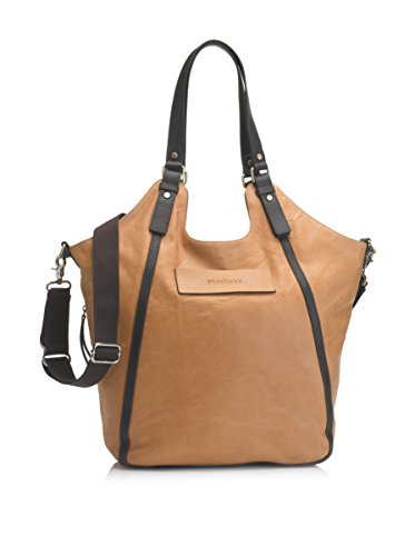 Storksak UK Edition Ellena Diaper Bag - Twisted Tan Leather - 1