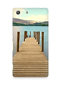 Amez designer printed 3d premium high quality back case cover for Sony Xperia M5 (Mountain River Sky Spice)
