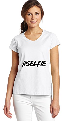 hashtag-selfie-womens-v-neck-t-shirt-xx-large