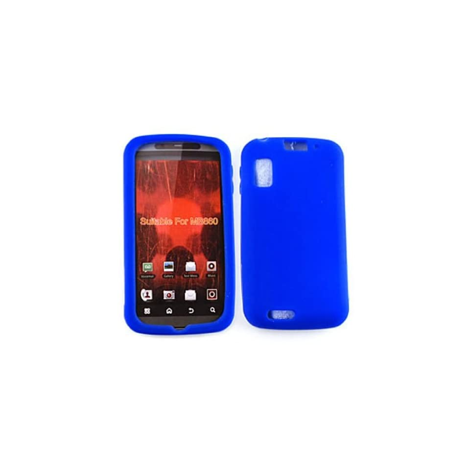 Motorola Atrix 4G MB860 Deluxe Silicone Skin, Blue Gel/Jelly/Case/Cover/Snap On/Protector